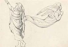 Henry Wallis, R.W.S. (1830-1916)   A figure study with an angel (recto) (illustrated) and mother and child (verso..