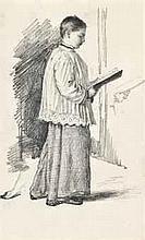 Henry Wallis, R.W.S. (1830-1916)   Study of a choir boy