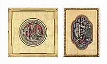 Sidney Harold Meteyard, R.B.S.A. (1868-1947)   Four stained glass window designs including two for Red Lodge, Bristol (two illustrated)
