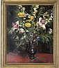 Daffodils, daisies, irises and other flowers in a vase, Pierre-Eugène Clairin, Click for value
