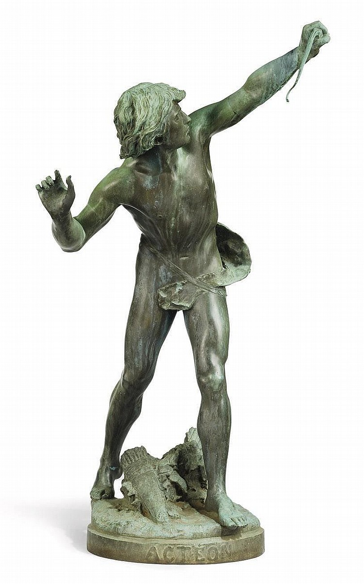 A FRENCH BRONZE MODEL OF ACTEON