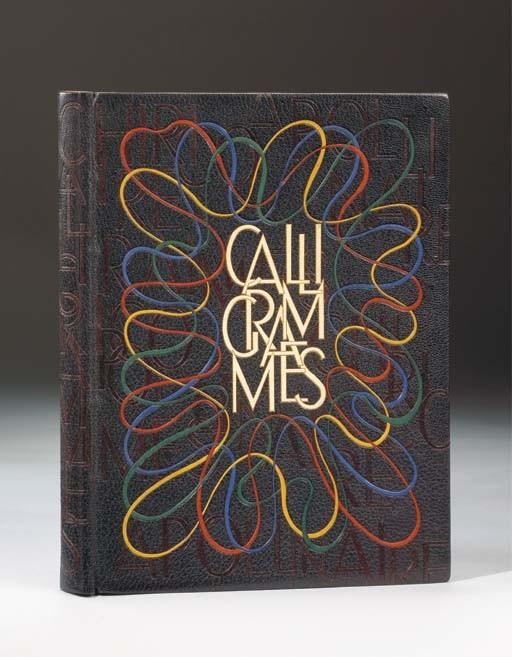 [CHIRICO] -- APOLLINAIRE, Guillaume (1880-1918). <I>Calligrammes. Lithos de Chirico</I>. Paris: