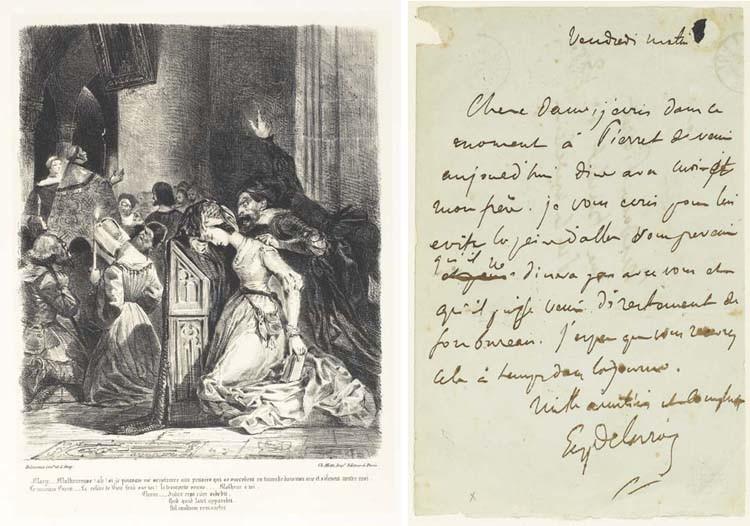 [DELACROIX] -- GOETHE, Johann Wolfgang von (1749-1832). <I>Faust. Tragédie, traduite en français</I>
