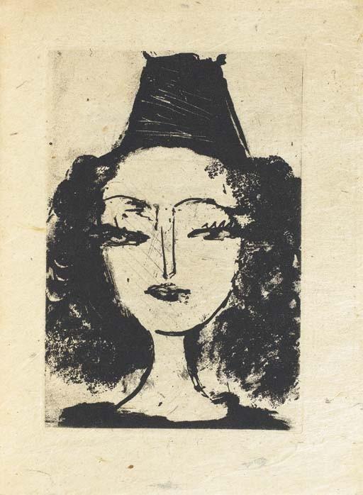 [PICASSO] -- ELUARD, Paul (1895-1952). <I>La barre d'appui. Poèmes illustrés de trois eaux-fortes</I>