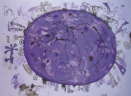 Purple Planet in Lavender Space