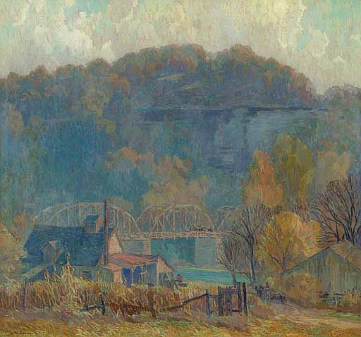 The Cliff at Morning, Ozarks
