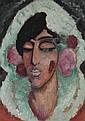 Spanierin mit geschlossenen Augen, Alexei Jawlensky, Click for value