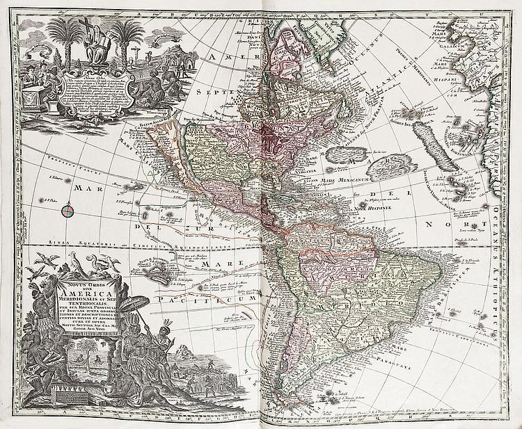 SEUTTER, Georg Matthäus (1678-1757).  Atlas novus, sine tabulae geographica...  Augsburg: [circa 1740].
