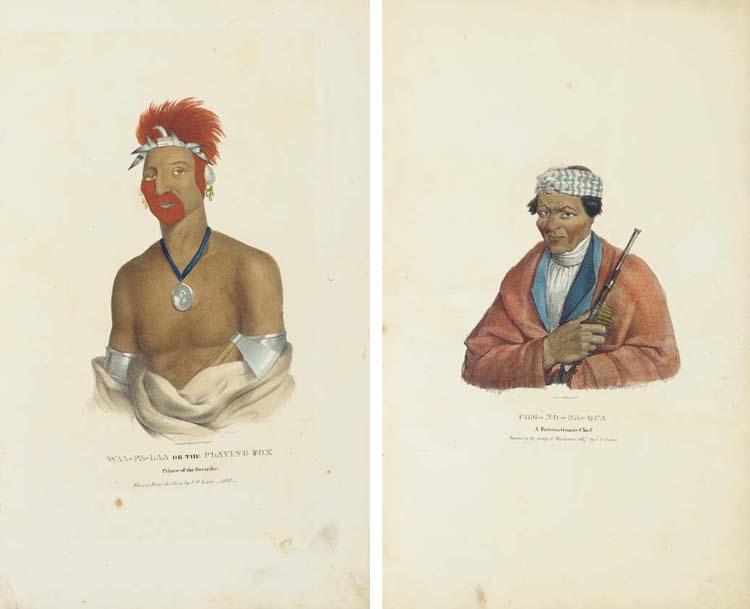 LEWIS, James Otto (1799-1858). [<I>Aboriginal Port Folio</I>. Philadelphia, 1835-36.]