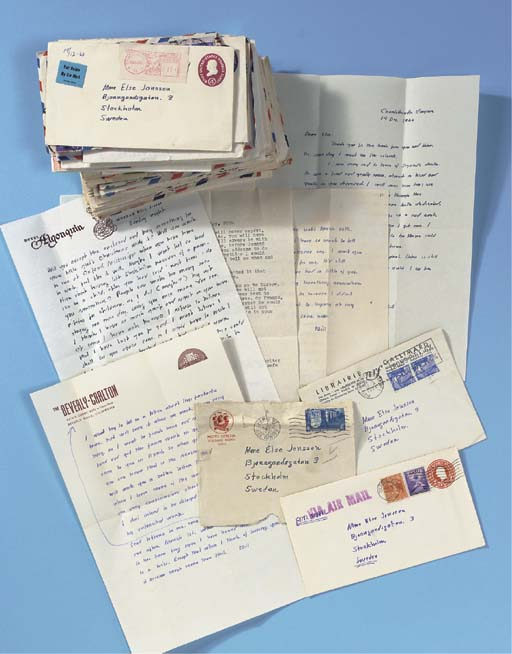 FAULKNER, William (1897-1962). A group of 62 letters comprising HIS COMPLETE CORRESPONDENCE WITH