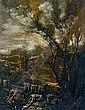 Paesaggio fluviale con lavandaie, Antonio Francesco Peruzzini, Click for value