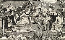 John Byam Liston Shaw, A.R.W.S. (1872-1919) Il Decamerone: A Tale from Boccaccio pencil, pen and black ink on paper 18 x 22 5/8 in. (45.7 x 57.5 cm.)