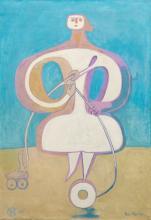 FRANÇOISE GILOT (B. 1921) - Woman Yoyo