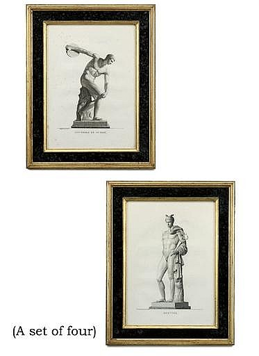 A SET OF FOUR ENGRAVINGS OF CLASSICAL FIGURES