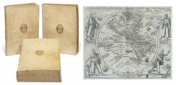 BRY, Theodor de (1528-1598) and Johann Theodor de BRY (1561-1623). [ Great Voyages. ] Frankfurt: Johann Wechel, Johann Feyerabendt, Matthias Becker and Wolfgang Richter for Theodor de Bry, 1590-1601.