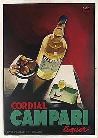 Campari Bitter l/'aperitivo Vintage Liquor Italian Beverage Poster Reproduction