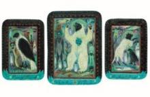 TONY FITZPATRICK (B. 1958) - Triptych: White Bear, Pray Bird, Walkin Dog