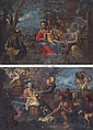 The Nativity; and The Adoration of the Shepherds, Giovanni Battista Merano, Click for value