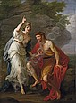 Calypso calling heaven and earth to witness her sincere affection to Ulysses, Angelica Kauffman, Click for value