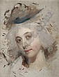 Portrait head of a lady, unfinished, Sir Thomas Lawrence, Click for value