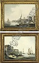 On the Thames near Westminster ; and  The Old King's Head on the Thames, William (1757) Anderson, Click for value
