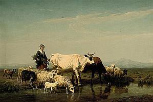 Edmond John Baptiste Tschaggeny (Belgian, 1818-1873)