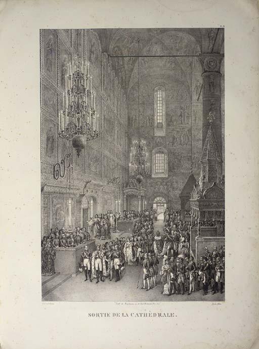 NICHOLAS I -- ADAM, Victor (1801-1866, illustrator) [and Henry GRAF]. Vues des cérémonies les