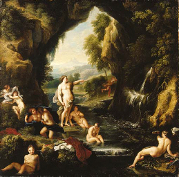 JAN FRANS VAN BLOEMEN, L'ORIZZONTE (Antwerp 1662-1749 Rome) and attributed to Giuseppe Chiari (Rome 1654-1724)