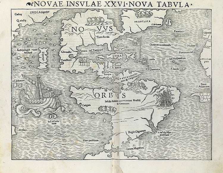 PTOLEMY (Claudius Ptolemaeus).  Geographia universalis.  Translated from Greek into Latin by Willibald Pirckheimer (1470-1530), edited by Sebastian Münster (1488-1552). Basel: Heinrich Petri, August 1545.