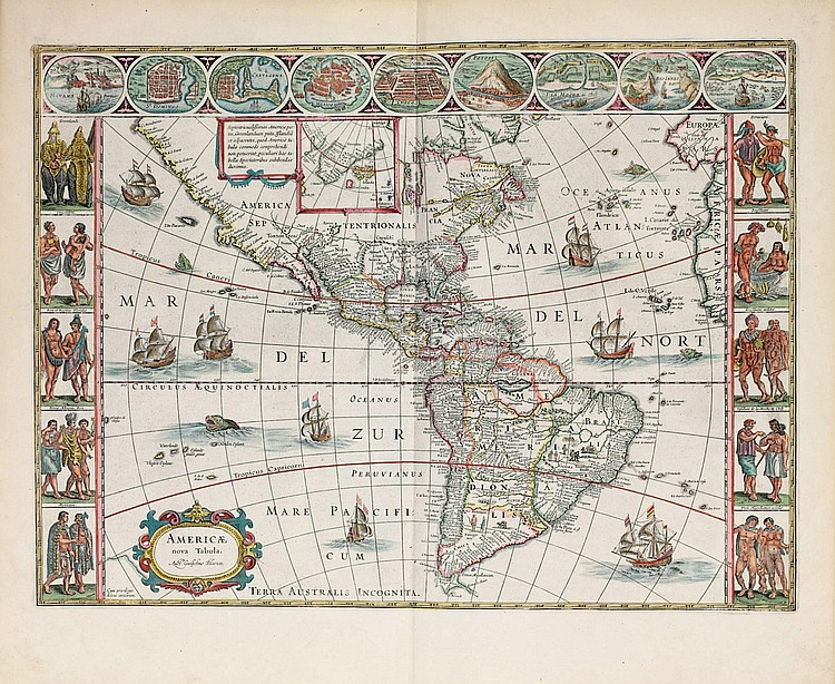 BLAEU, Willem (1571-1638) and Johan BLAEU (1596-1673).  Novus Atlas, Das ist, Welt-beschreibung, Mit schönen newen aussführlichen Land-Taffeln in Kupffer gestochen... Ander Theil.  Amsterdam: Johann Blaeu, 1647.