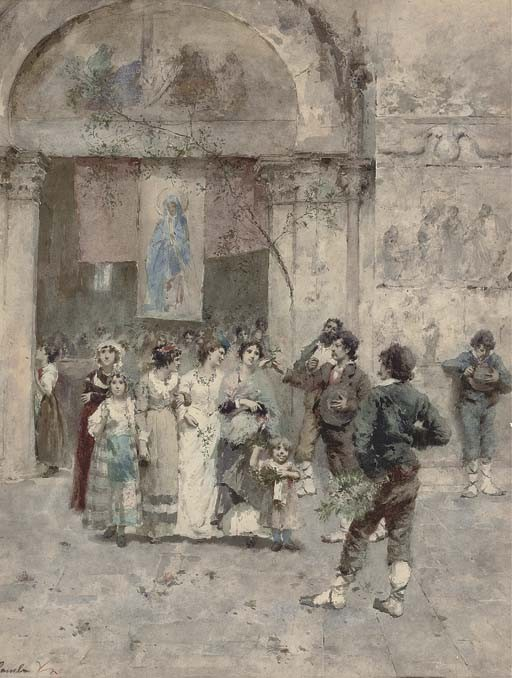 Enrico Gamba (Italian, 1831-1883)