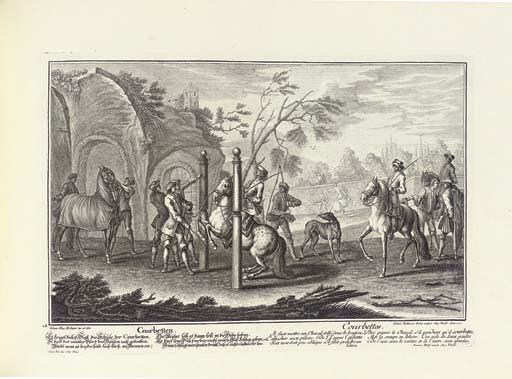 RIDINGER, Johann Elias (1698-1767). <I>Neue Reit-Kunst... L'art de monter à cheval</I>. Augsburg: