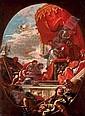 Pope Leo X blessing Giuliano de' Medici, Duke of Nemours and Lorenzo de' Medici, Duke of Urbino, Sebastiano Ricci, Click for value