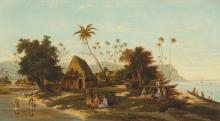 Adolf Meckel von Hemsbach (1856-1893) Point Venus, Tahiti titled