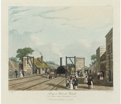 BURY, Thomas Talbot (1811-1877). <I>Coloured Views on the Liverpool and Manchester Railway, with</I>