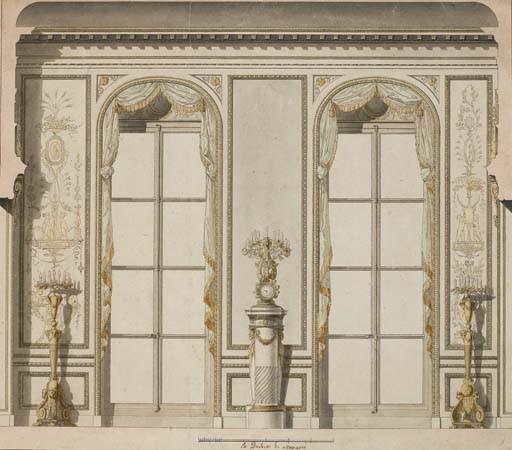 Projet architectural pour la grande galerie de l'hôtel de Madame de Mazarin à Paris