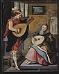 A couple playing the lute in an elegant interior, Louis De Caullery, Click for value