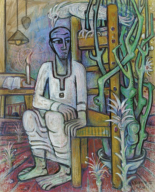 Seated Man with a Cactus