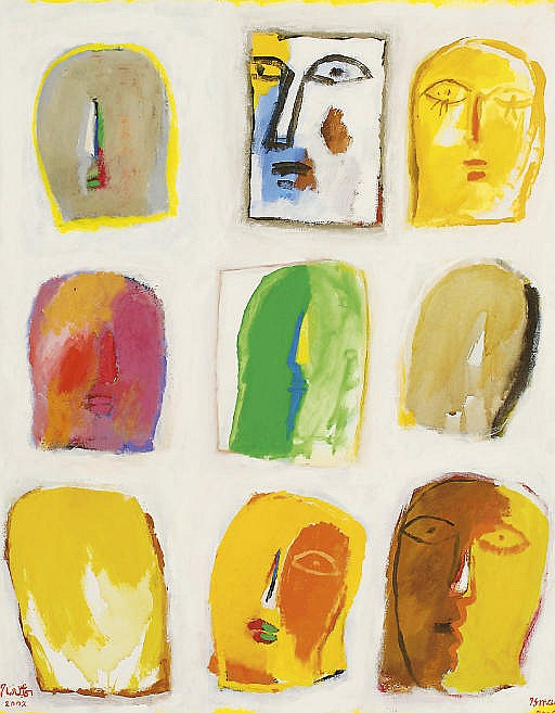 Untitled (Nine Faces)