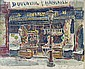 Butcher storefront; and a companion work, Louis Hayet, Click for value