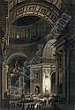 La cérémonie de la Croix lumineuse à la croisée du transept de Saint-Pierre de Rome, Louis-Jean Desprez, Click for value
