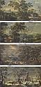 Les quatre saisons : Le Printemps; L'Eté; L'Automne; L'Hiver, Andrea Locatelli, Click for value