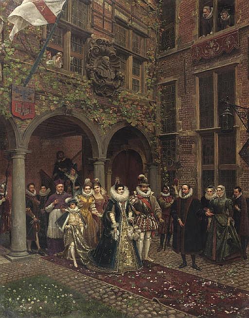Isabella of Spain and Albrecht VII of Austia visiting De Gulden Passer, Antwerp