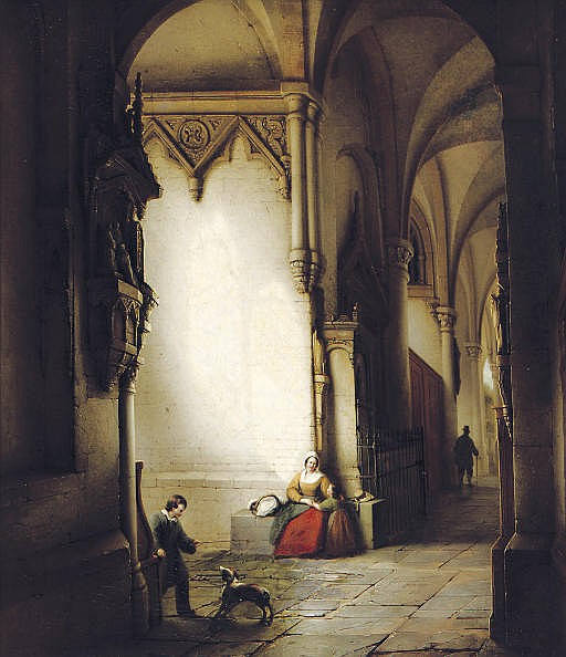 A sunlit church