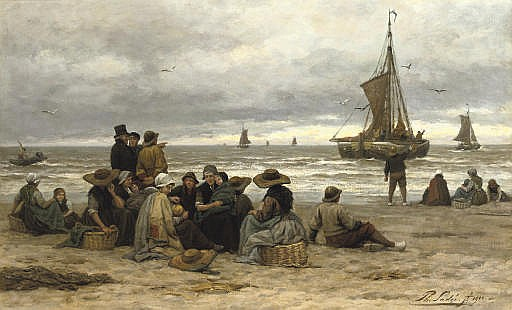 The arrival of the fleet: fisher-folk on the beach