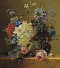 An opulent flower still life, Arnoldus Bloemers, Click for value