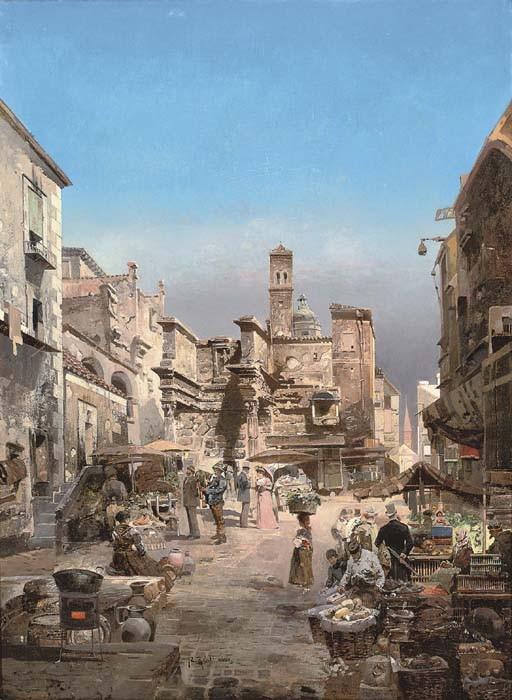 Street market in Naples