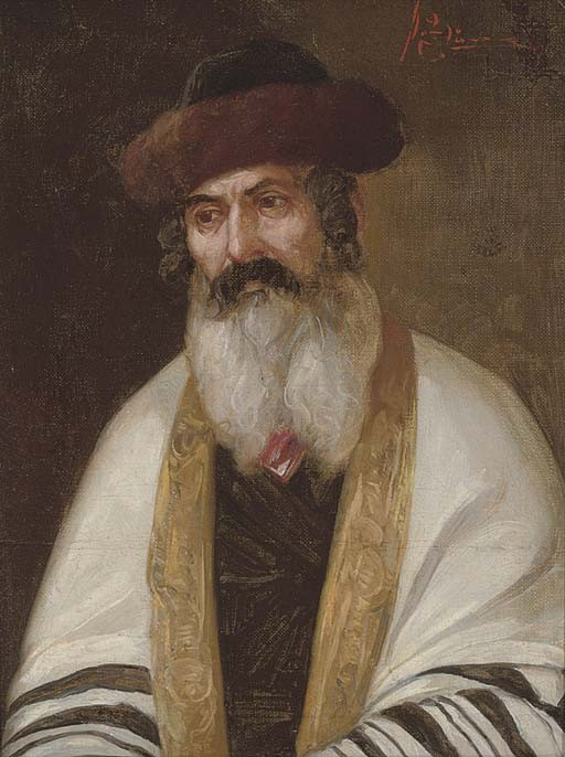 A Rabbi wearing a streimel and tallis