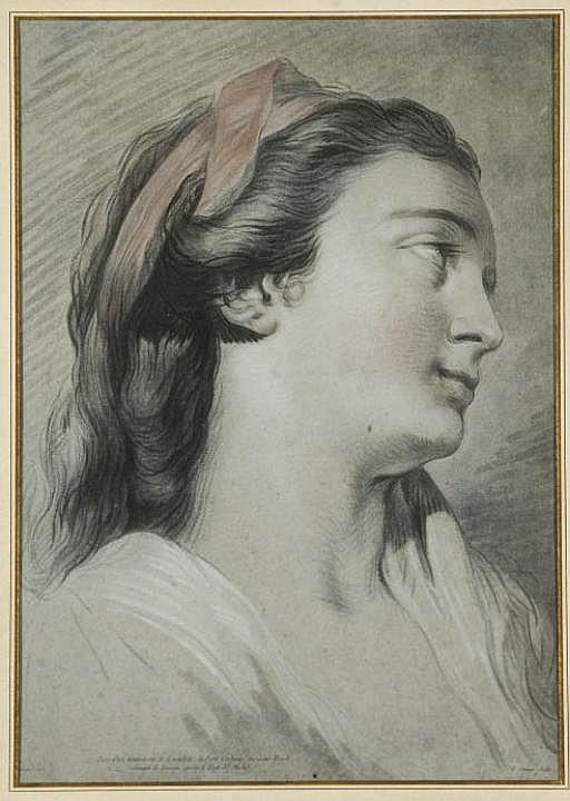 Portrait de Femme  par Jean-François Janinet (Inv. Fonds Français 235)