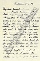 GORDON, Charles G. (1833-1885). Two autograph letters signed (